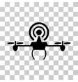 wifi repeater drone icon vector image