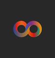 Infinity symbol geometric shape colorful mockup vector image