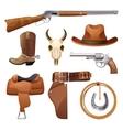 Cowboy Elements Set vector image