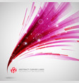 abstract pink and red lines curve circle swirl vector image vector image