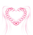 Background with heart of pink lines vector image