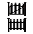 Black fence and gate vector image vector image