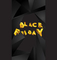 black friday background layout background balck vector image