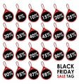Black Friday Sales price vector image vector image