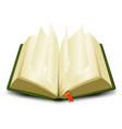 bookmark and flipping pages vector image vector image