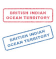 british indian ocean territory textile stamps vector image vector image