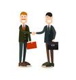business people handshake in vector image