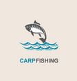 carp fish icon vector image vector image