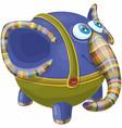 cartoon blue eyed funny baelephant vector image vector image