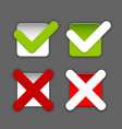 check boxes vector image