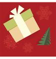 chrismas gift card vector image vector image