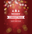 christmas background with typography greeting vector image vector image