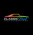 classic auto paint logo template vector image
