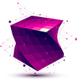 Colorful abstract deformed squared object with vector image