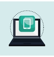computer laptop with smartphone isolated icon vector image vector image