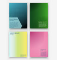 covers design geometric halftone gradients vector image vector image