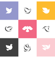 Dove Set of elegant icons and logos vector image