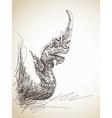 dragon statue vector image vector image