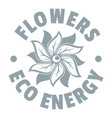 eco flower logo simple gray style vector image vector image