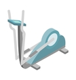 Elliptical walker trainer icon isometric 3d style vector image