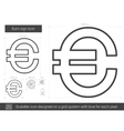 Euro sign line icon vector image