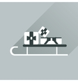 Flat web icon with long shadow presents on sledge vector image vector image