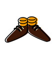 funny shoes cartoon vector image