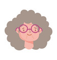 grandmother with curly hair vector image vector image