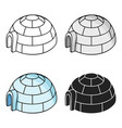 igloo icon in cartoon style isolated on white vector image