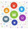 leader icons vector image vector image
