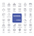 line icons set school pack vector image vector image