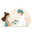 manicure session in beauty salon vector image