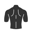 mans back glyph icon vector image