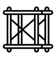 metal scaffolding equipment icon outline style vector image