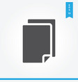 paper icon simple sign for web site and mobile app vector image vector image