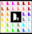 people speaking or singing sign felt-pen vector image vector image