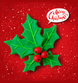 plasticine figure of christmas holly vector image