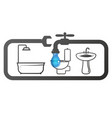 plumbing for home repair and maintenance vector image vector image
