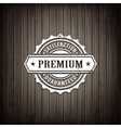 Premium Seal Wooden Background vector image vector image