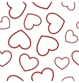 red heart seamless vector image vector image