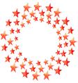 Red watercolor stars circle vector image vector image
