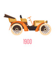 retro car with open top vintage vehicle 1900 vector image