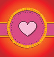 round patch with heart vector image vector image