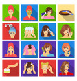 salon cosmetic hairdresser and other web icon in vector image