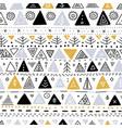 seamless pattern with ethnic tribal boho triangle vector image vector image