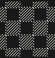 seamless pattern with stripes lines squares vector image