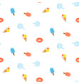 seamless summer pattern with blue pink color ice vector image