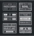 set hipster minimal geometric linear vector image vector image