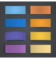 Set of blank colorful paper banners with shadows vector image vector image