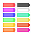 set of colorful flat ribbons labels for design vector image vector image